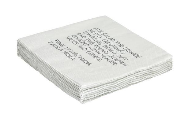 Serviette Abbie Beige - Beige, MODERN, Papier (16/16cm)