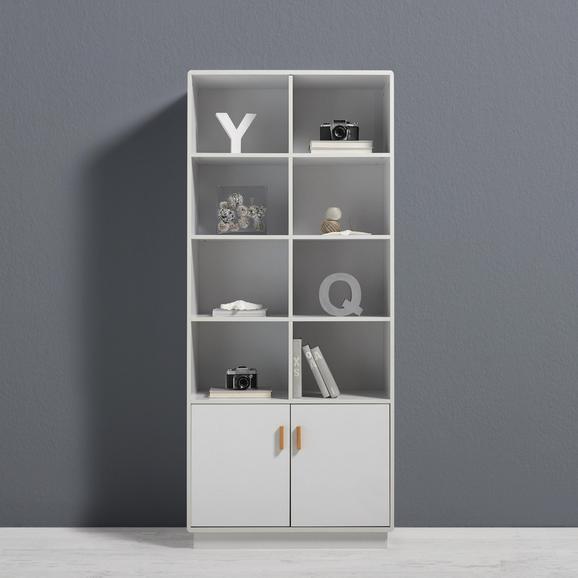 Schrank Claire - Weiß, MODERN, Holz (80/188/39cm) - Mömax modern living