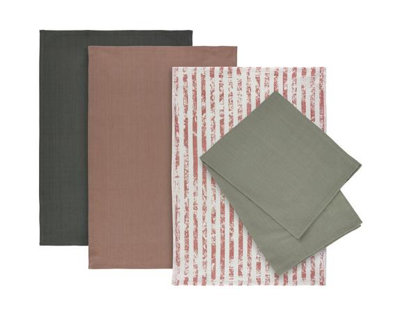 Set Kuhinjskih Krp Lisa -ext- - roza, Moderno, tekstil (50/70cm) - Mömax modern living