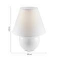 Lampă De Masă Irma - crem, Romantik / Landhaus, sticlă/textil (18/25cm) - Modern Living