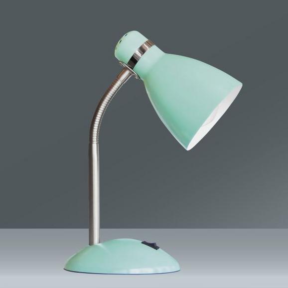 Asztali Lámpa Elif - mentazöld/szürke, romantikus/Landhaus, fém (35cm)