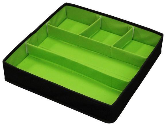 Vstavek za nakit LADI - črna/zelena, Moderno, tekstil (38/8/38cm) - Mömax modern living