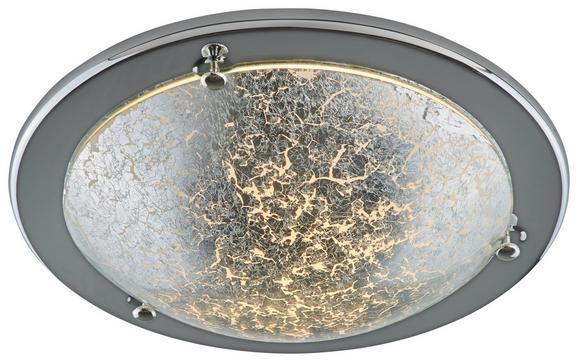 Deckenleuchte Emelle - Silberfarben, MODERN, Glas/Metall (30/8cm) - Modern Living
