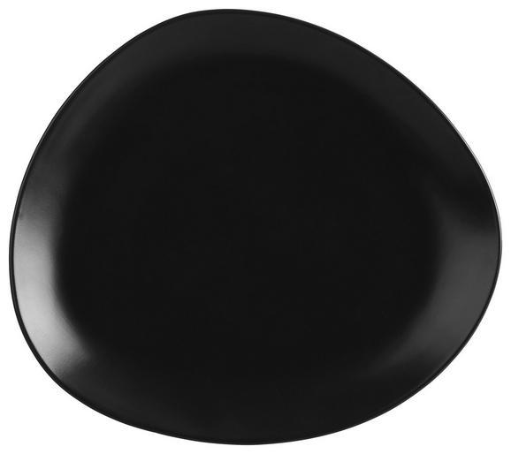 Speiseteller Nele Schwarz - Schwarz, MODERN, Keramik (26,3/23/2,5cm) - Premium Living