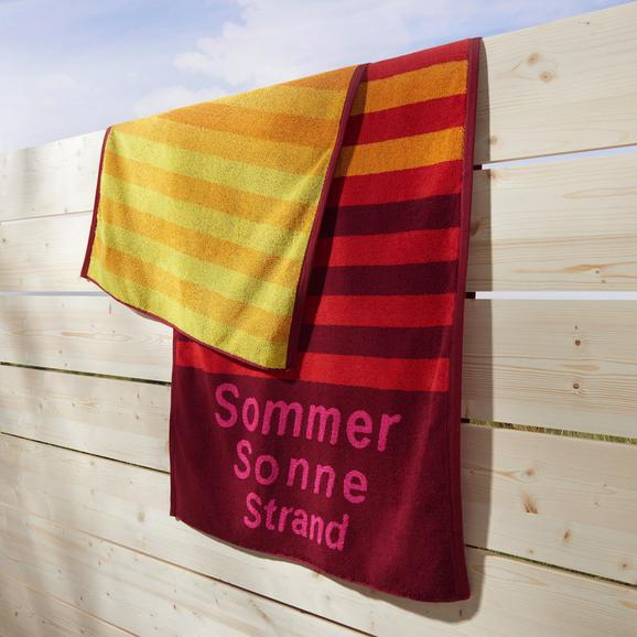 Strandtuch Dyckhoff ca.70x180cm - Rot, KONVENTIONELL, Textil (70/180cm) - Dyckhoff