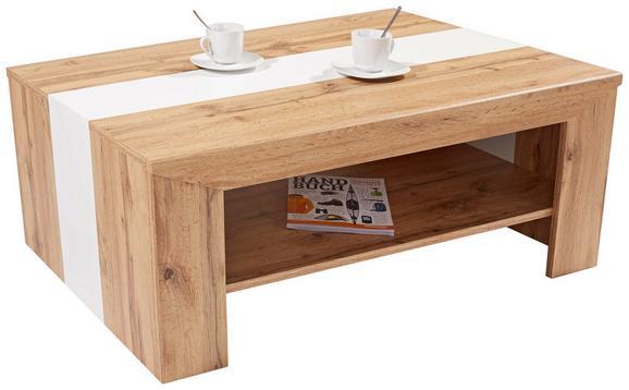 Klubska Mizica Madras - bela/hrast, Konvencionalno, leseni material (110/40/70cm) - Mömax modern living