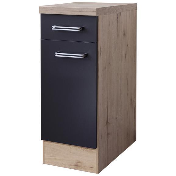 Dulap De Bucătărie Milano - culoare lemn stejar/antracit, Modern, compozit lemnos (30/86/60cm)