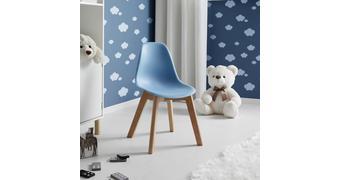 Kinderstuhl Tibby - Hellblau, MODERN, Holz/Kunststoff (30/56,5/32,5cm) - Bessagi Kids