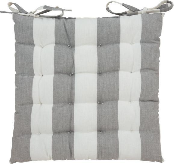Sedežna Blazina Blockstreif - siva/bela, tekstil (40/40cm) - Mömax modern living