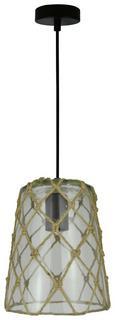 Hängeleuchte Bilal, max. 1x40 Watt - Schwarz/Naturfarben, LIFESTYLE, Glas/Kunststoff (18/128cm) - Mömax modern living