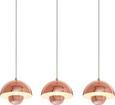 Pendelleuchte Style 3-flammig - Kupferfarben, Metall (76/20/110cm) - Mömax modern living