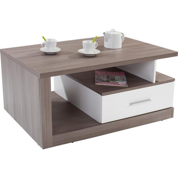 Măsuță De Canapea Iguan - alb/gri închis, Modern, plastic/compozit lemnos (110/45/67cm)