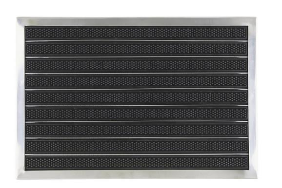 Lábtörlő Miguel - fekete, modern, műanyag/fém (40/60cm) - MÖMAX modern living