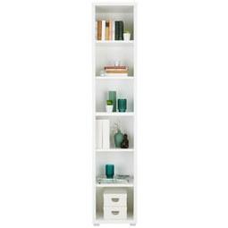 Regal in Weiß - Silberfarben/Weiß, MODERN, Holzwerkstoff (43/218/36cm)