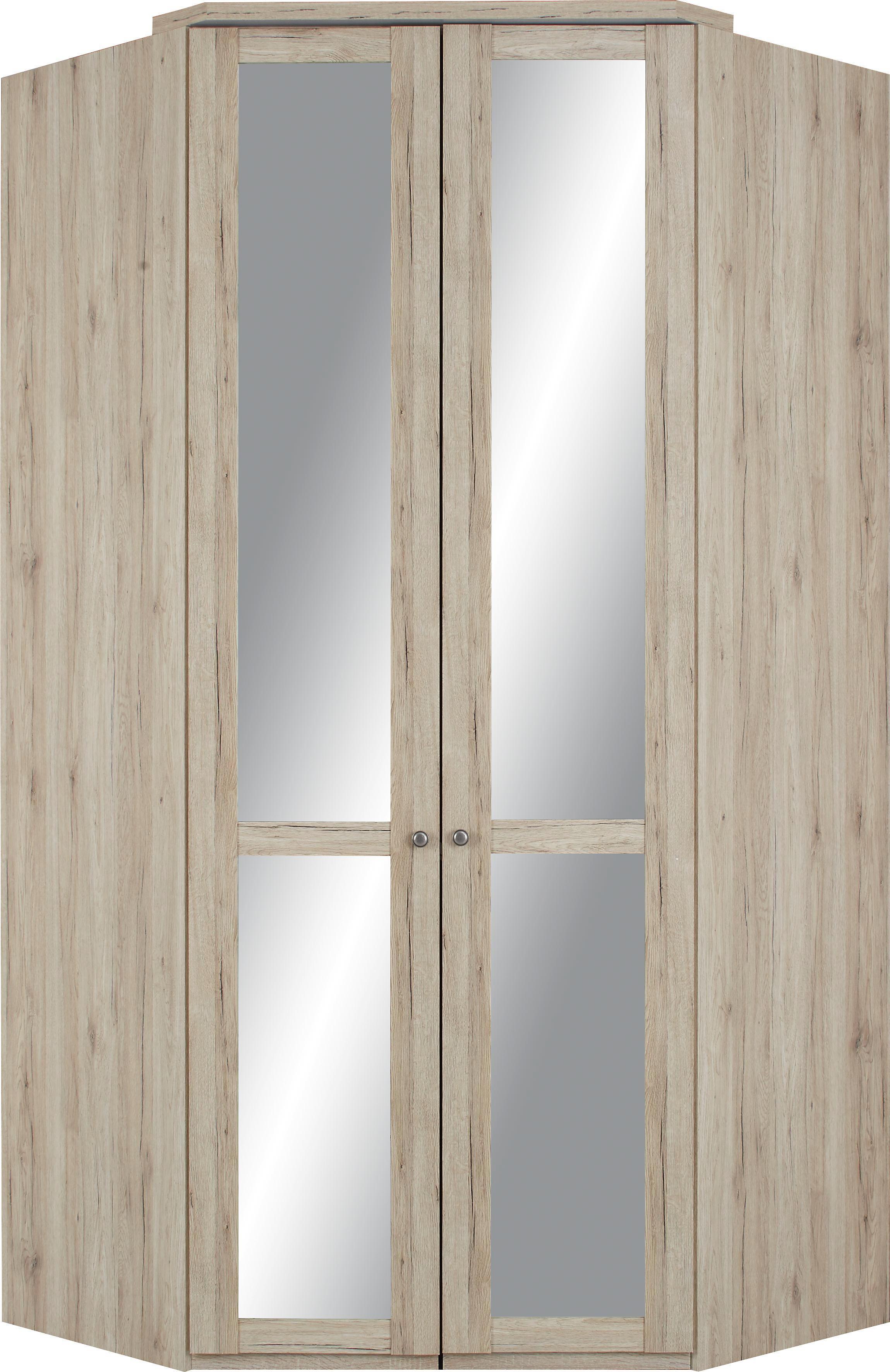 Eckschrank in Eiche - Eichefarben, ROMANTIK / LANDHAUS, Holz/Holzwerkstoff (120/234/120cm) - PREMIUM LIVING
