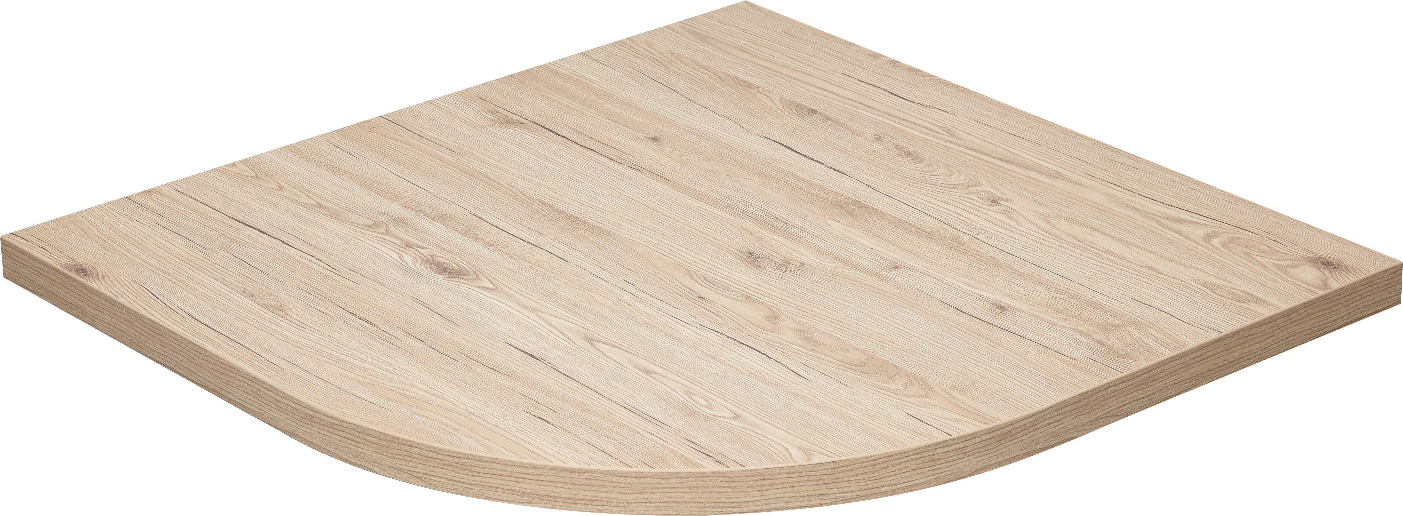 Sarok-csatlakozó Lap Massiccio - tölgy színű, modern, fa (80/4/80cm) - BASED