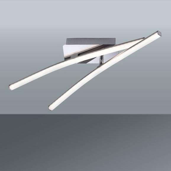 LED-Deckenleuchte Simon, max. 2x5 Watt - Nickelfarben, KONVENTIONELL, Metall (58/51/10cm)