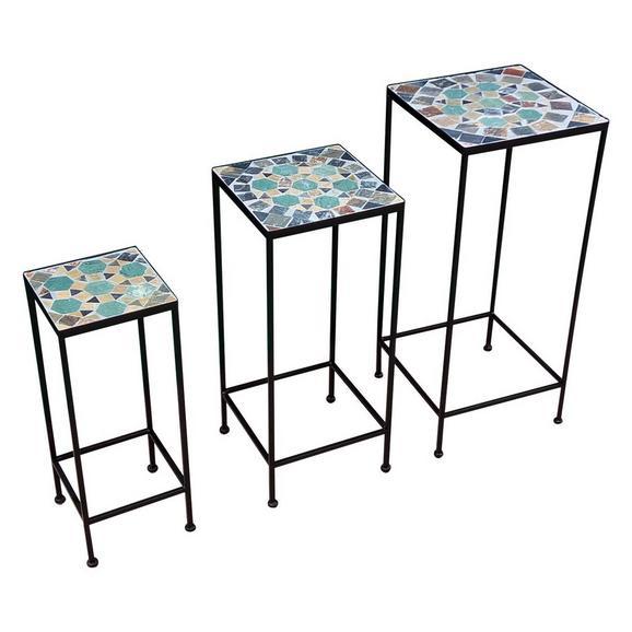 Masă Pentru Flori Zoey - multicolor/negru, Modern, ceramică/metal (30/70/30/26/61/26/20/51/20cm)