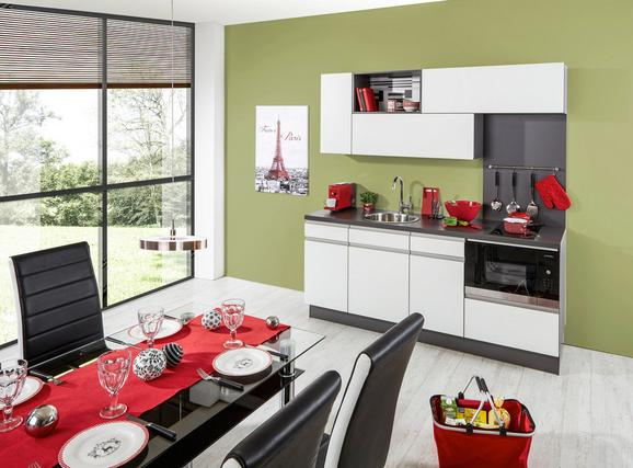 Kuhinjski Blok Santiago - črna/bela, Moderno, leseni material (190cm) - Vertico