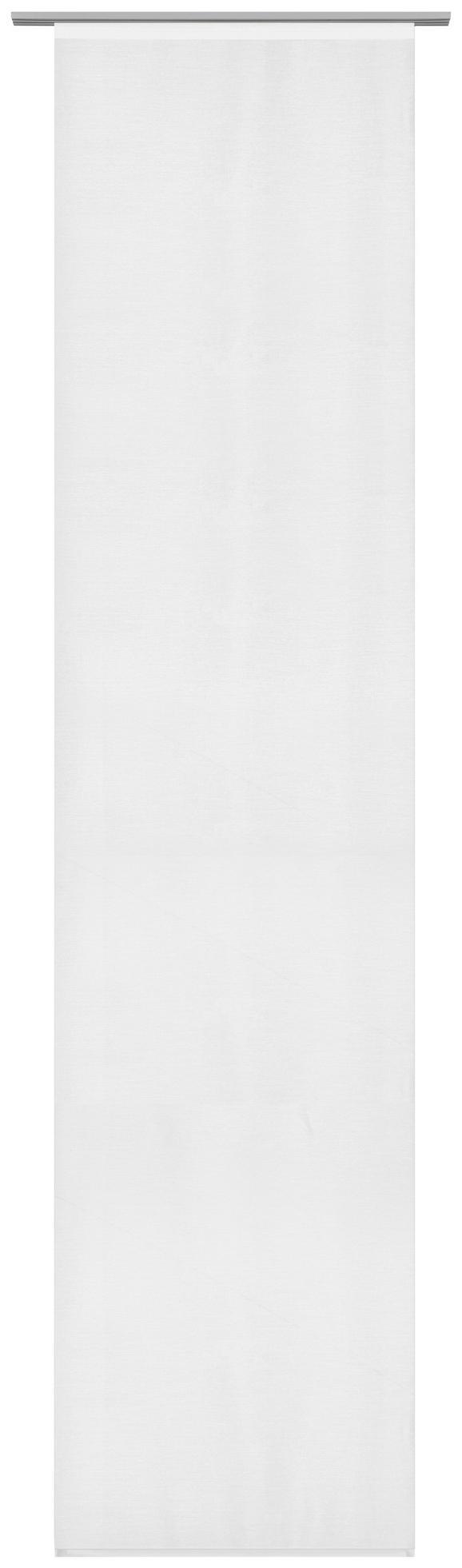 Panelna Zavesa Uni - bela, Moderno, tekstil (60/245cm) - Mömax modern living