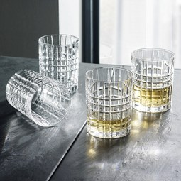 Nachtmann Whiskygläserset Square 4-teilig - Klar, MODERN, Glas - Nachtmann