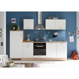 Kuhinjski Blok Andy - bela/hrast sonoma, Moderno, leseni material (270/195/60cm) - Mömax modern living