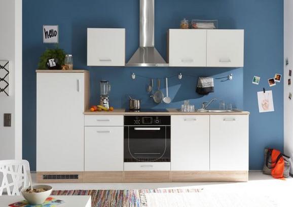 Kuhinjski Blok Brez Aparatov Andy - bela/hrast sonoma, Moderno, leseni material (270/195/60cm) - Mömax modern living