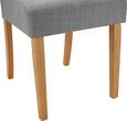 Stuhl Fanney - Buchefarben/Hellgrau, MODERN, Holz/Textil (46,5/98/63cm) - Modern Living