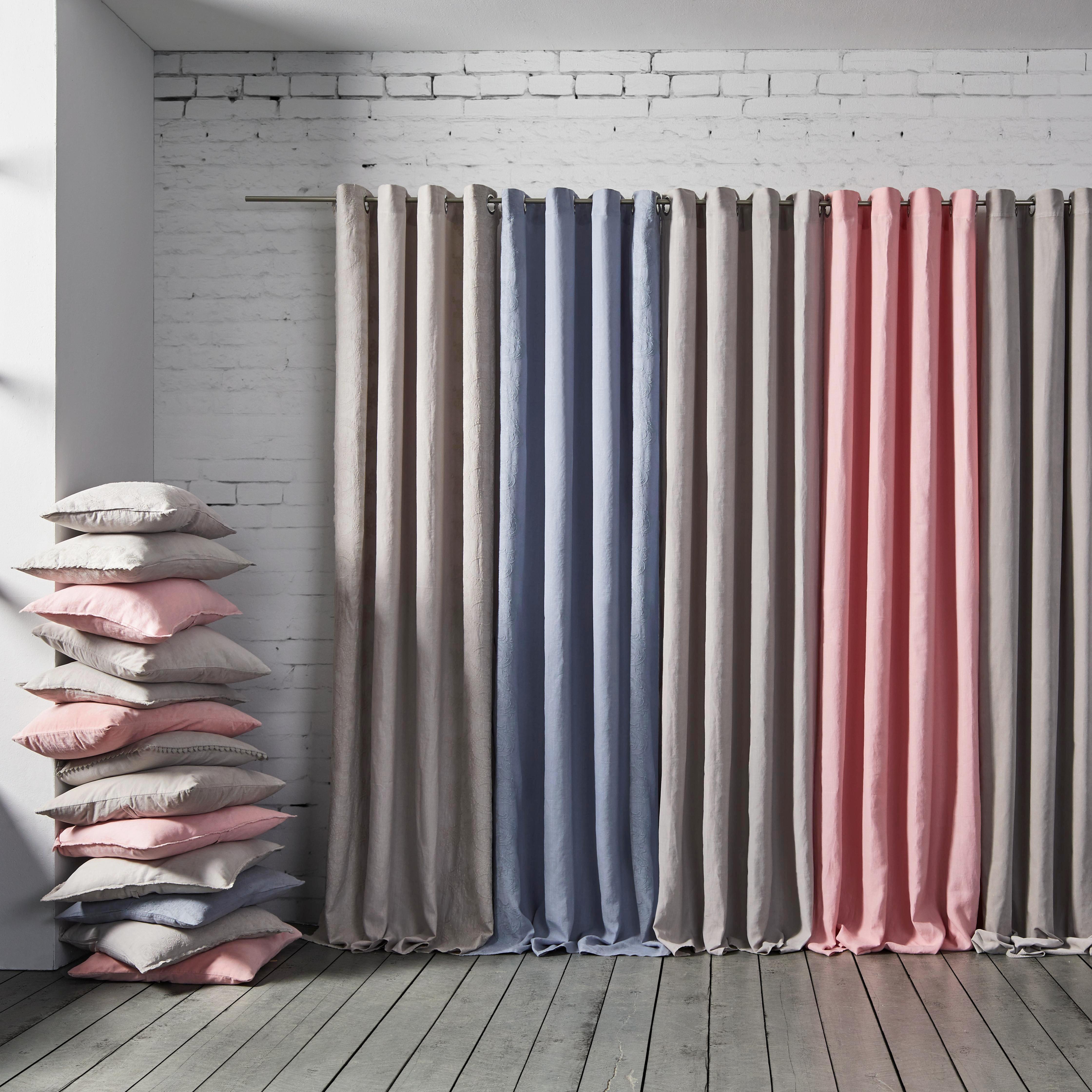 Leinenvorhang Franzi 140x245cm - Grau, ROMANTIK / LANDHAUS, Textil (140/245cm) - MÖMAX modern living