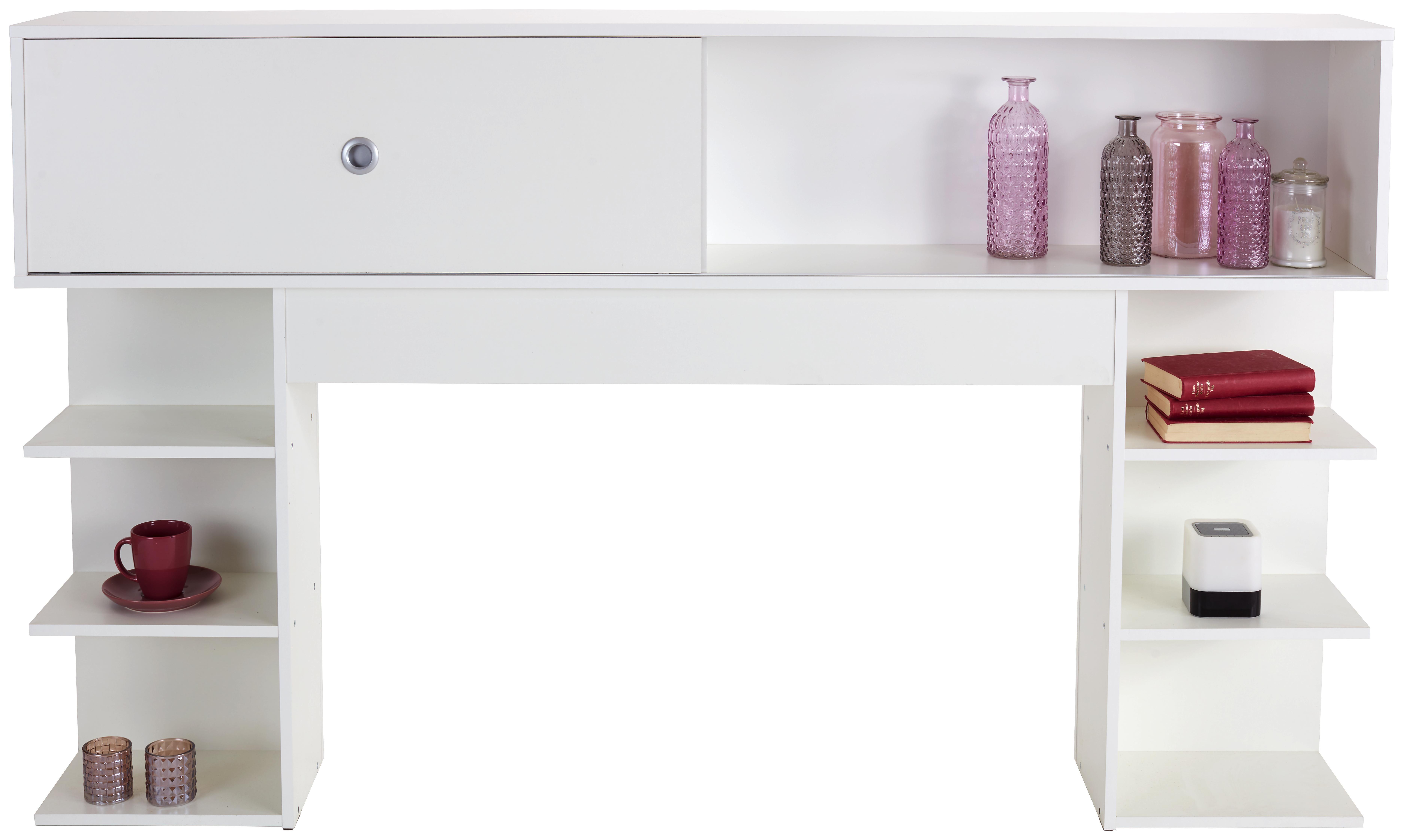 Omara Nad Posteljo Azurro 180 - aluminij/bela, Konvencionalno, umetna masa/leseni material (185/111/27cm) - Mömax modern living