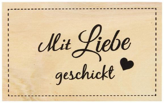 Postkarte Luna Natur Aus Sperrholz - MODERN, Holzwerkstoff (16/0,2/10cm)
