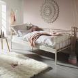 Bett in Weiß ca. 90x200cm - Weiß, ROMANTIK / LANDHAUS, Metall (207/92/99cm) - Zandiara