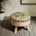 Hocker mit Blumen Motiv - Multicolor/Naturfarben, ROMANTIK / LANDHAUS, Holz/Holzwerkstoff (42/30/42cm) - Zandiara