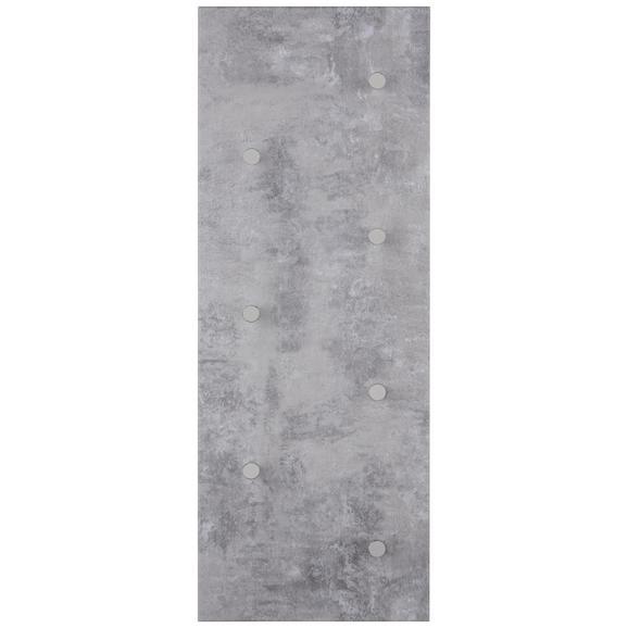 Wandgarderobe Betonoptik - MODERN, Holzwerkstoff (80/30/5,5cm) - Mömax modern living