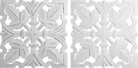 Stenska Dekoracija Krishna - bela, Romantika, leseni material (50/50cm) - Mömax modern living