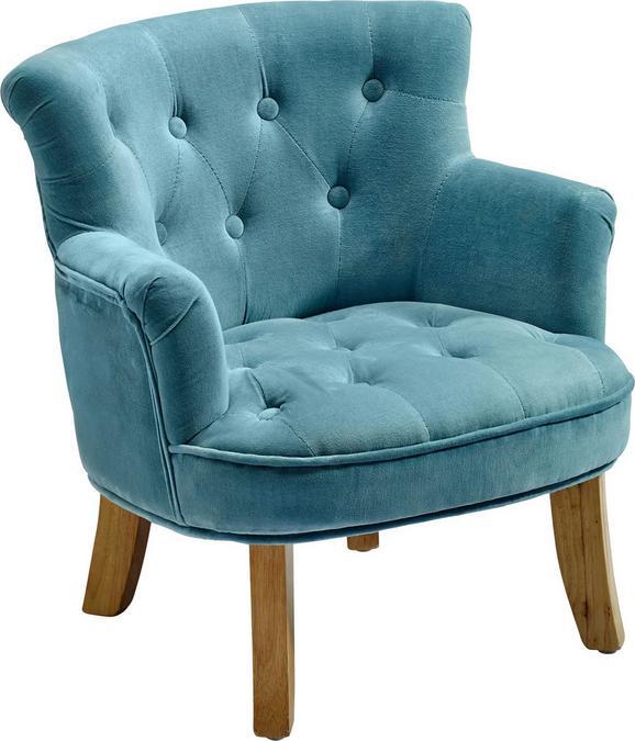Kindersessel Blau/ 49x50x53cm - Blau, ROMANTIK / LANDHAUS, Textil (49/50/53cm) - Premium Living