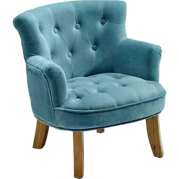 Sessel in Blau - Blau, ROMANTIK / LANDHAUS, Textil (49/50/53cm) - Premium Living
