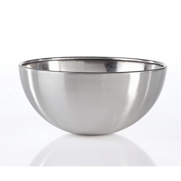 Schüssel Vinzenz Ø ca. 12,5cm - Edelstahlfarben, MODERN, Metall (12,5/6cm) - Mömax modern living