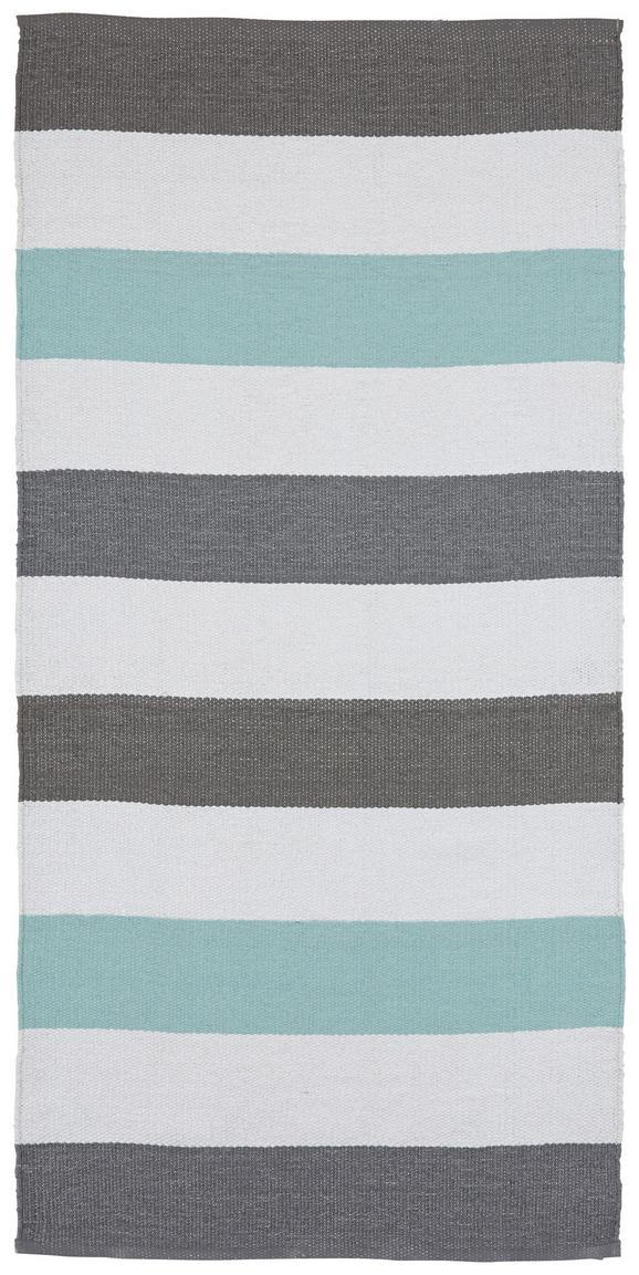 Outdoorteppich Stripe 70x140cm - Blau, MODERN, Textil (70/140cm) - Mömax modern living