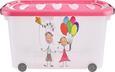 Aufbewahrungsbox Kiddys Pink/transparent - Pink/Transparent, Kunststoff (60/38/32cm)