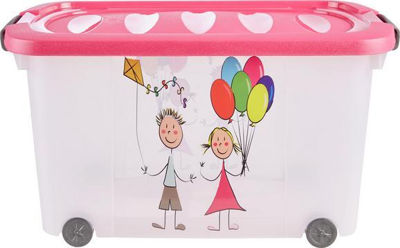 Škatla Za Shranjevanje Kiddys - roza/prosojna, umetna masa (60/38/32cm)