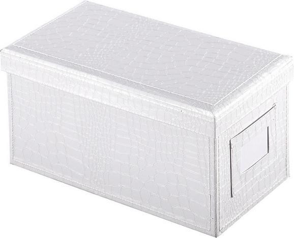 CD-/DVD-Box Magnolia in Weiß - Weiß, LIFESTYLE, Karton (25/14/13,2cm) - Mömax modern living