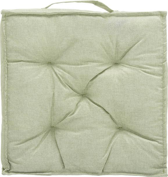 Boxkissen Nora in Hellgrün ca. 40x40x7cm - Hellgrün, MODERN, Textil (40/40/7cm) - MÖMAX modern living