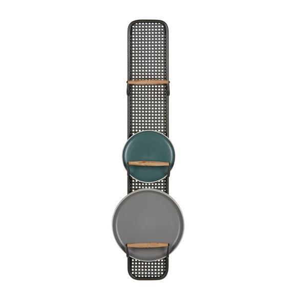 Etajeră Pentru Farfurii Cosima - culoare natur/negru, Romantik / Landhaus, lemn/metal (15/100/10cm) - Modern Living