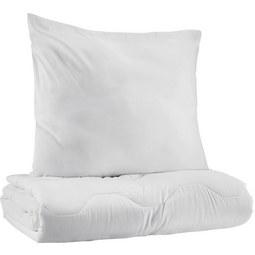 Bettenset SABINE Weiß - Weiß, Textil - Based