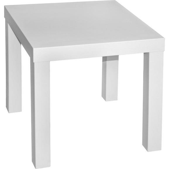 Masă Auxiliară Normen - alb, Modern, compozit lemnos (39/40/39cm)