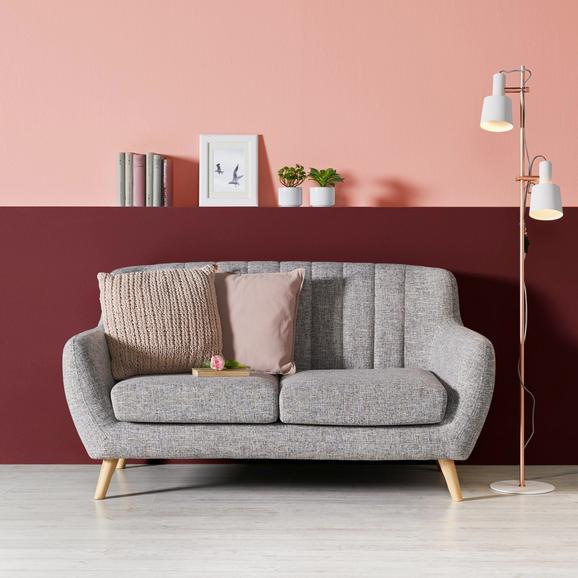 Zweisitzer Sofa Luna - Naturfarben/Grau, MODERN, Holz/Textil (149/76,5/79cm) - MODERN LIVING