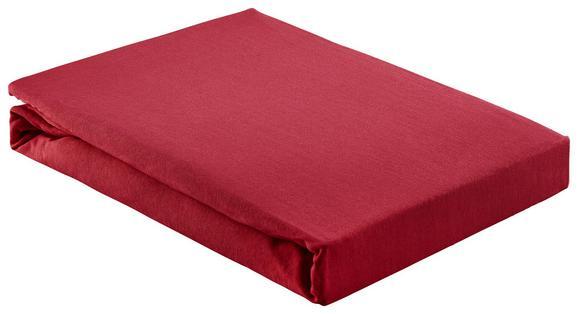 Spannleintuch Basic Bordeaux 180x200 cm - Bordeaux, Textil (180/200cm) - Mömax modern living