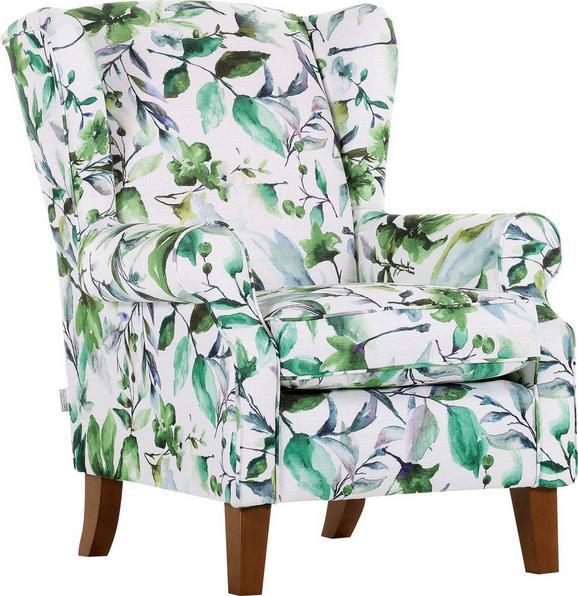Fotelj MAUI v zeleni in beli barvi - naravna/večbarvno, Trendi, tekstil (83/102/52/87cm) - Zandiara