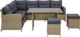 Loungegarnitur San Miguel in Hellbraun - Hellbraun/Dunkelgrau, MODERN, Glas/Kunststoff - Mömax modern living